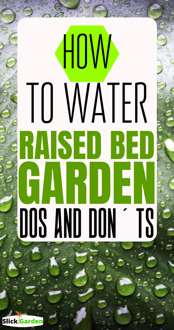 How To Water A Raised Bed Garden Here Are Some Best And 400 x 300