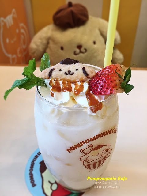 Cookies & Cream Caramel Latte ($11.99) from Pompompurin Cafe