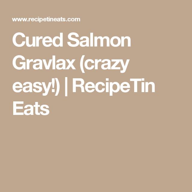 Cured Salmon Gravlax (crazy easy!) | RecipeTin Eats
