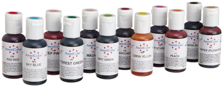 Amazon.com: AmeriColor #1 Color Kit Soft Gel Paste Food Color, 12 ...