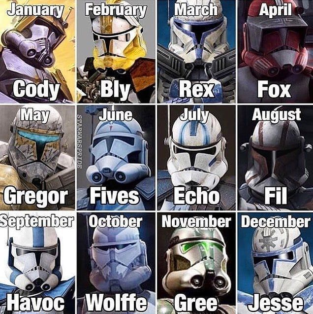 "Star Wars General on Instagram: ""Your birthday month is you"" #starwarscharac..."