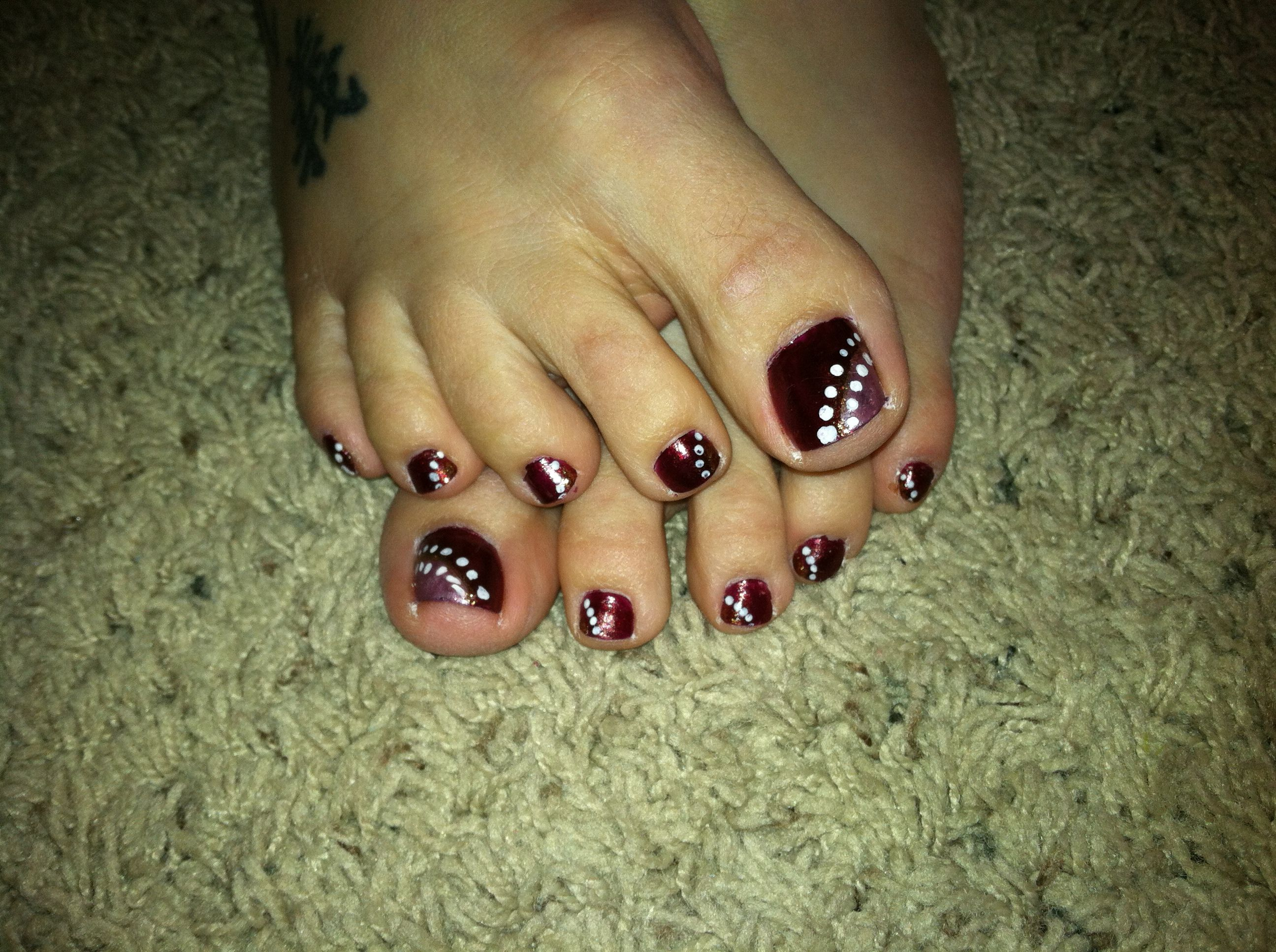 Diy easy fall nail design you can do at home burgundy - Easy nail polish designs to do at home ...