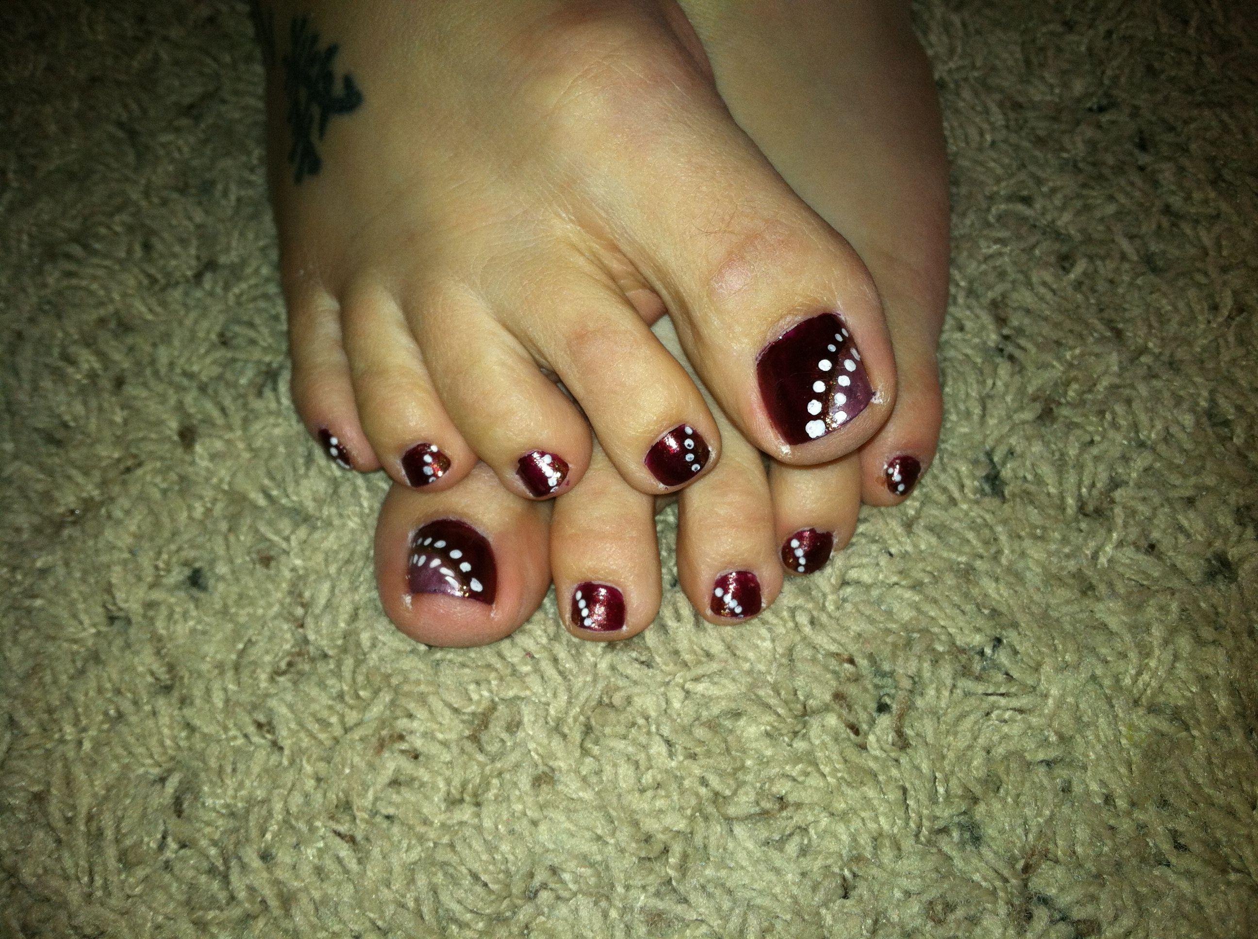 diy easy fall nail design