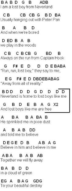 Flute Sheet Music: Lost Boy | Cool | Pinterest | Lost boys, Sheet ...