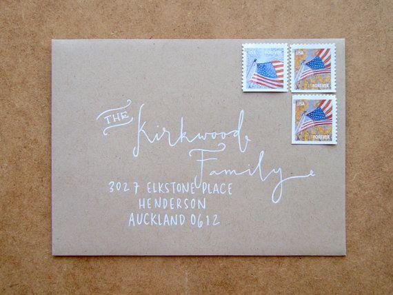 Juneberry Lane Hand-Lettered \ Lovely    Lettering Pinterest - new letter format examples envelope