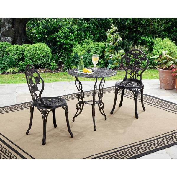 Better Homes and Gardens Rose 3-Piece Bistro Set | Outdoor ...