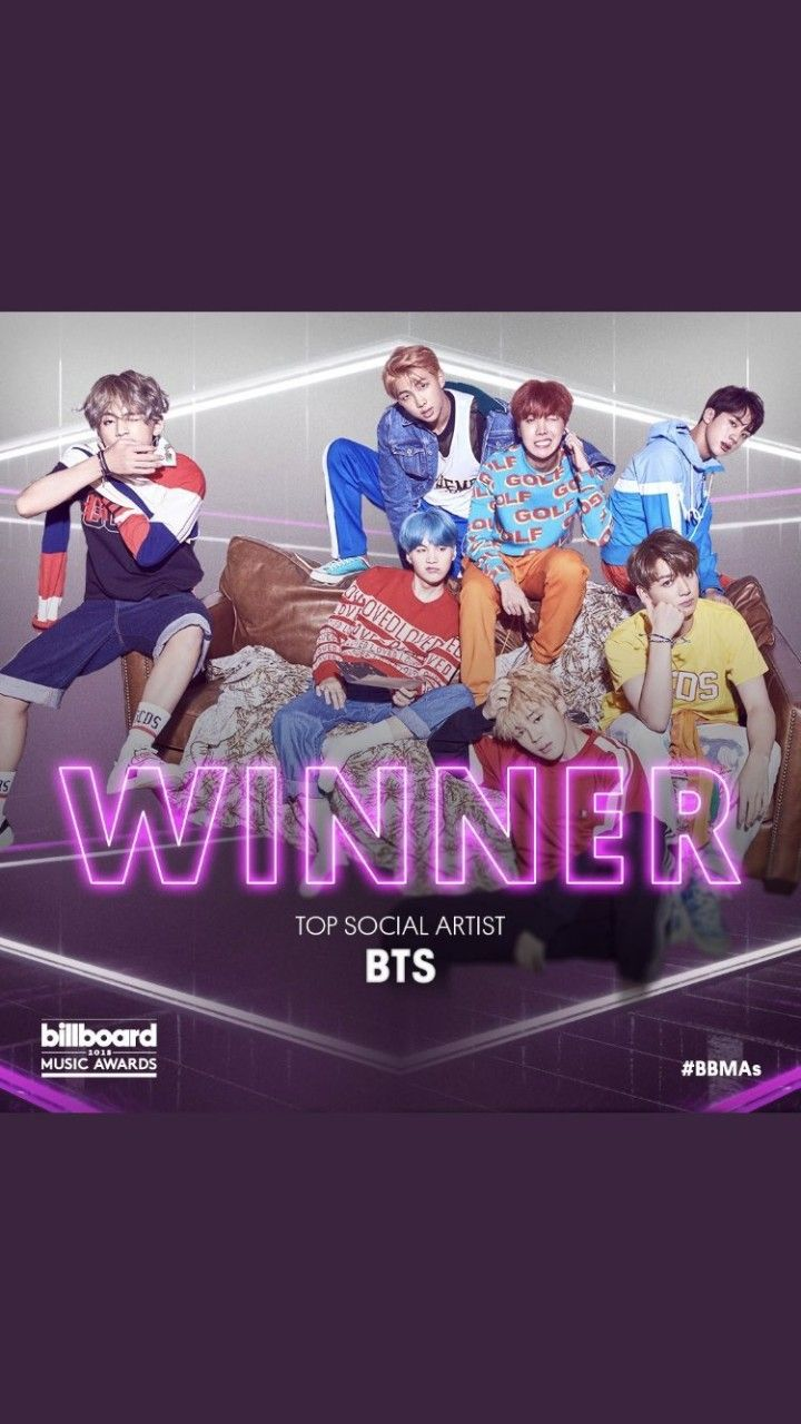 Yup that's right Bts won TOP SOCIAL ARTIST BBMA 2018