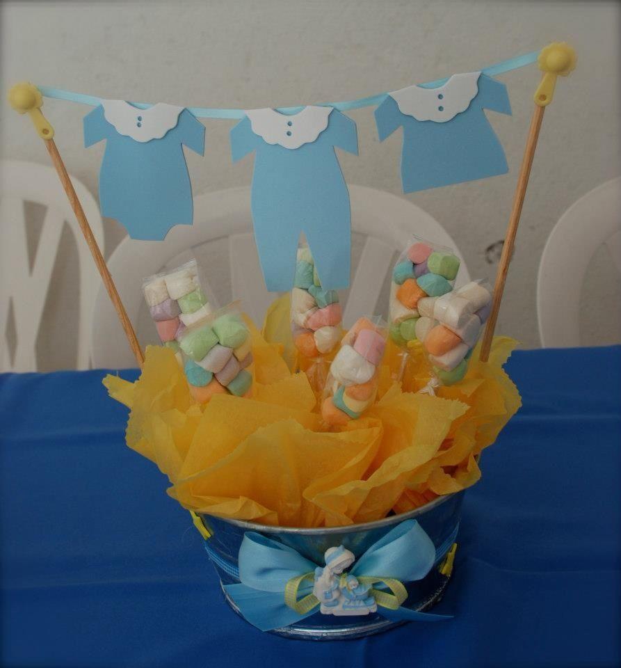 Centro de mesa para baby shower recuerdos y detalles for Centros de mesa para baby shower
