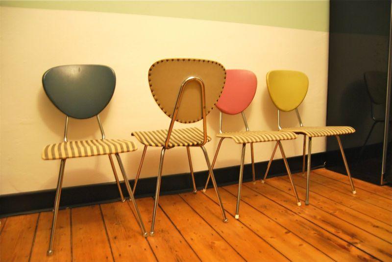 50er Jahre Fröscher Küchen Stühle / Rockabilly eBay Möbel