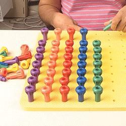 Pegboard 100 hole easy grip pegs autism adhd for Adhd and fine motor skills