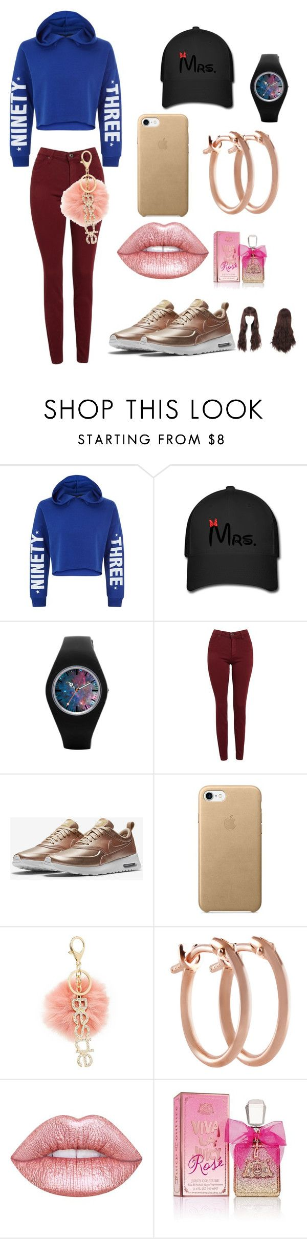 """Untitled #109"" by queenniyniy on Polyvore featuring New Look, AG Adriano Goldschmied, NIKE, Charlotte Russe, Pori, Lime Crime and Juicy Couture"