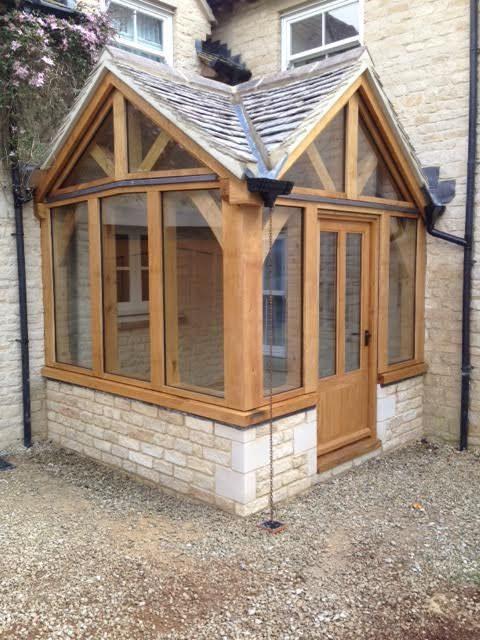 Oak Porch Gloucestershire House With Porch House Exterior