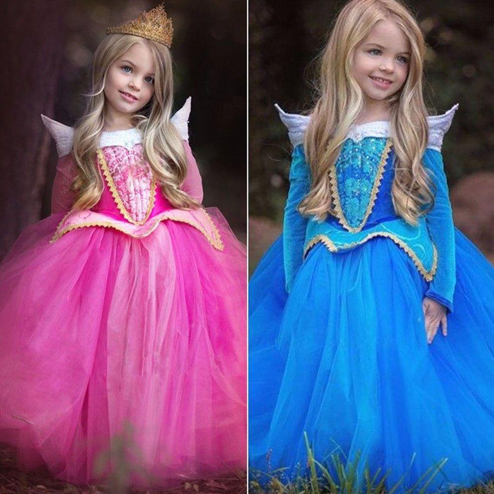 Kinder Sleeping Beauty Aurora Prinzessin Mädchen Kleid Cosplay Party ...