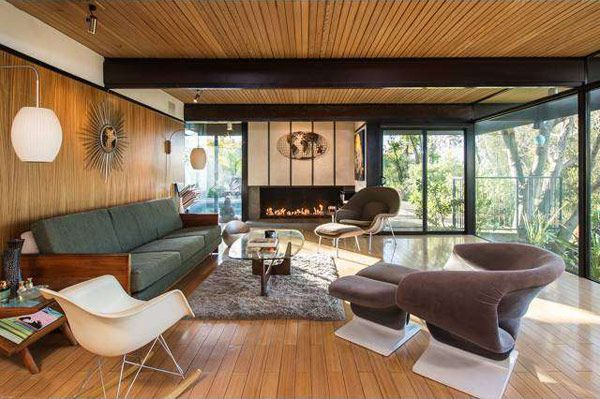 Post and beam mid century modern architecture mcm for Post and beam living room ideas