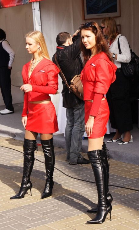 Dominant Ladies in leather boots | Thigh high boots ...