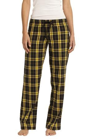 District - Juniors Flannel Plaid Pant Style DT2800 on sale for $14.98 from Sweatshirtstation.com #gold #black #plaid #flannel