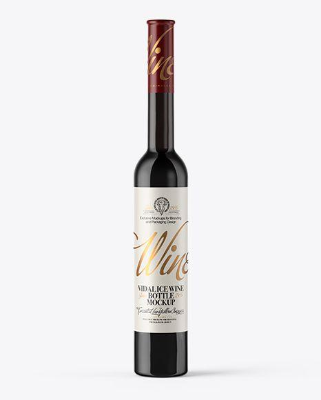 Download Dark Glass Ice Wine Bottle Mockup In Bottle Mockups On Yellow Images Object Mockups Bottle Mockup Ice Wine Mockup Free Psd