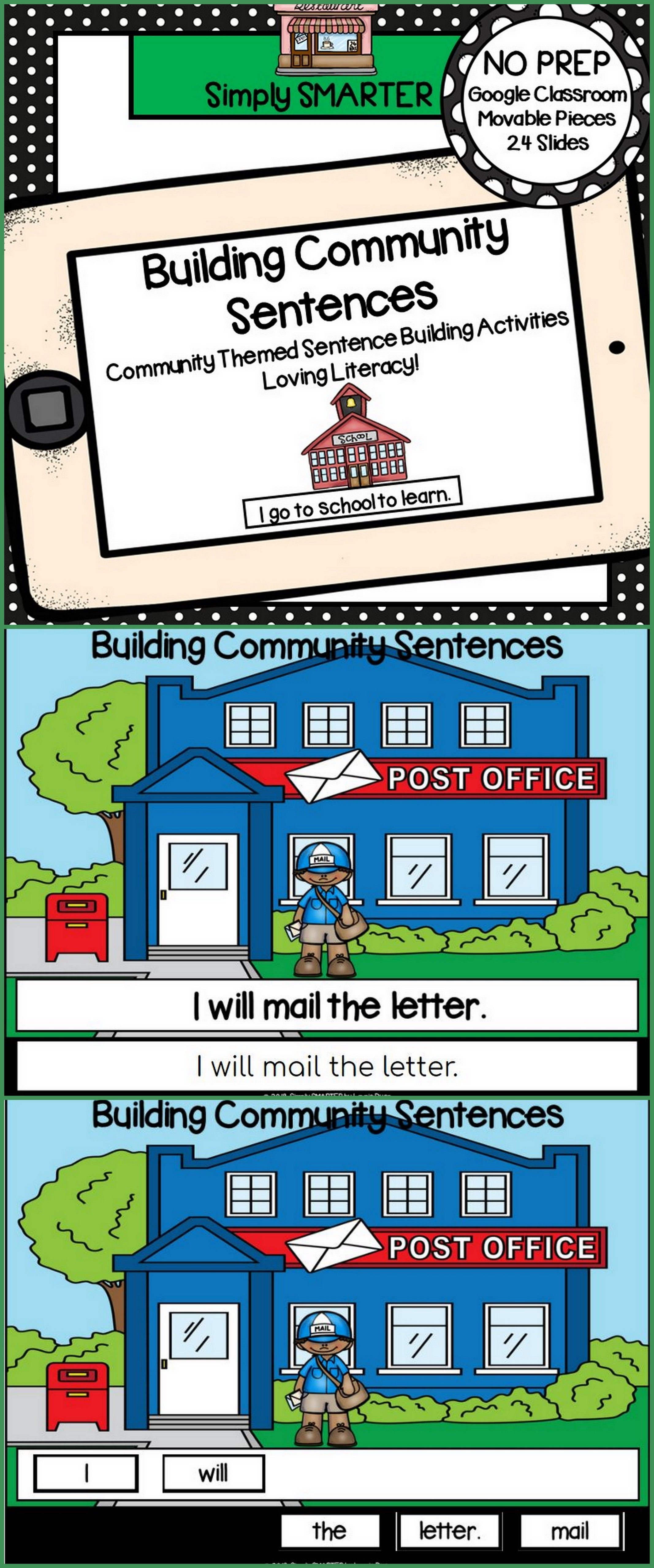Community Themed Sentence Building Activities For