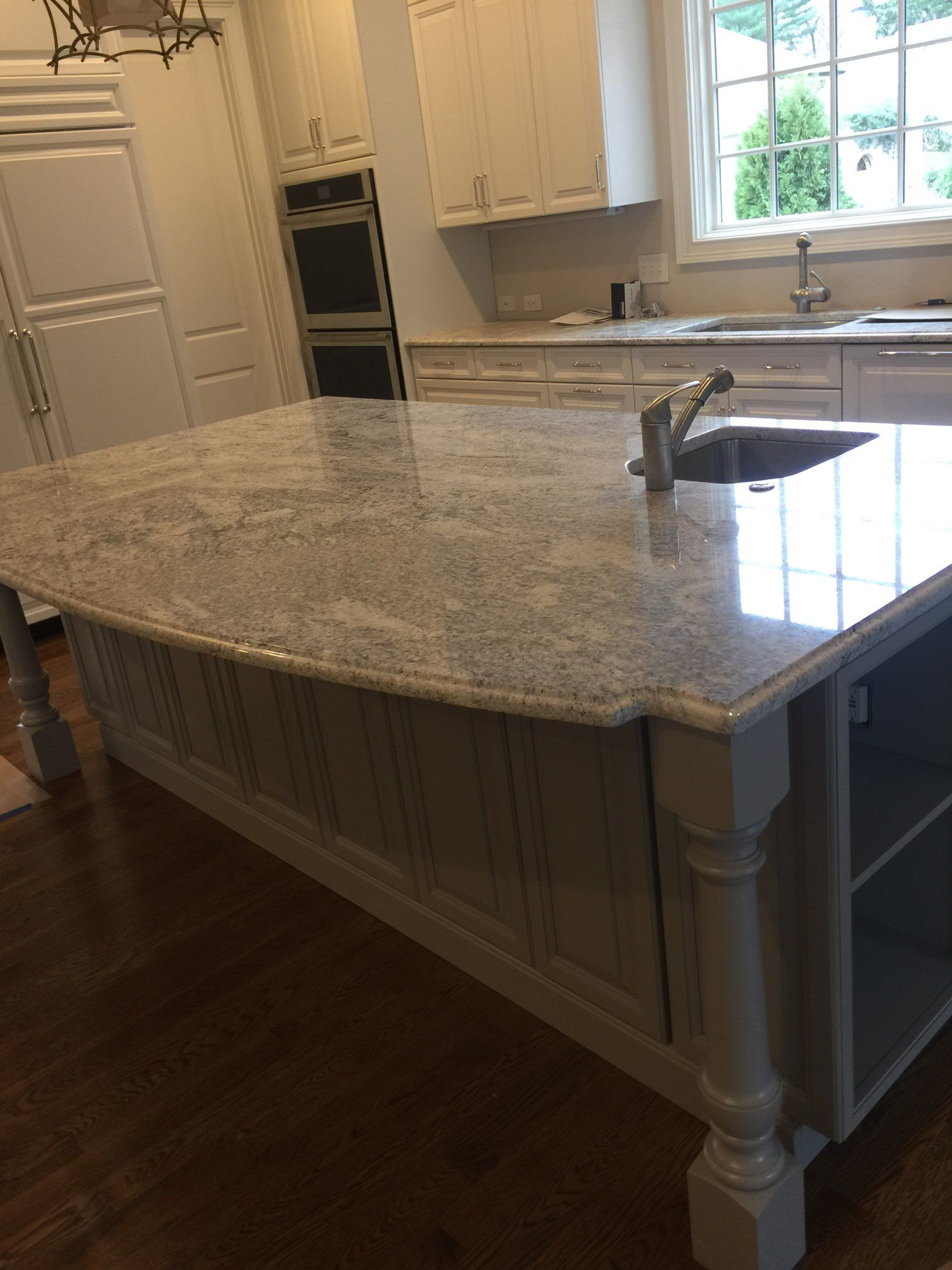 Bahama white Granite Kitchen Island. granite kitchen