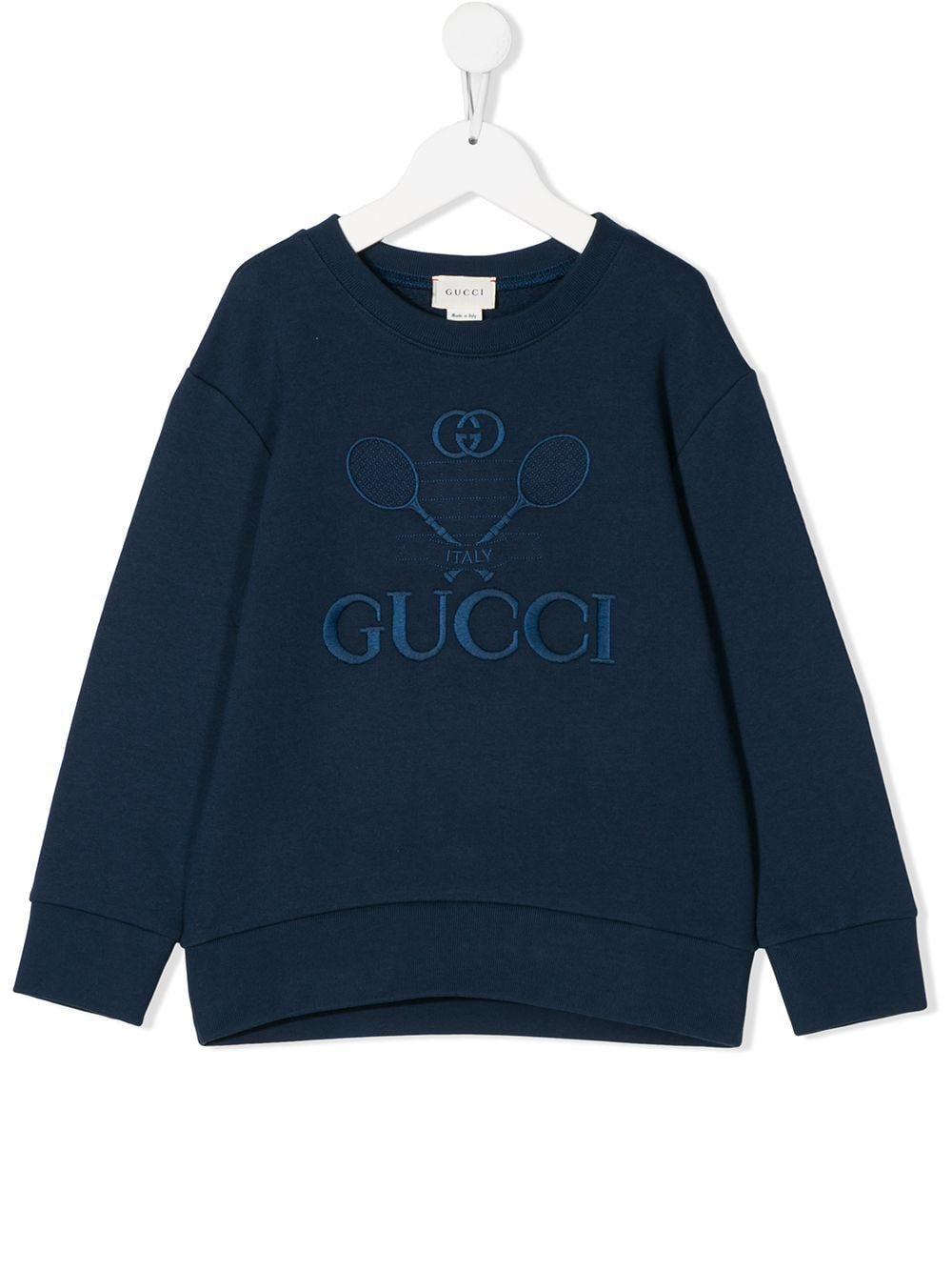 Gucci Kids Embroidered Logo Sweatshirt Farfetch In 2021 Vintage Nike Sweatshirt Vintage Crewneck Sweatshirt Sweatshirts [ 1334 x 1000 Pixel ]