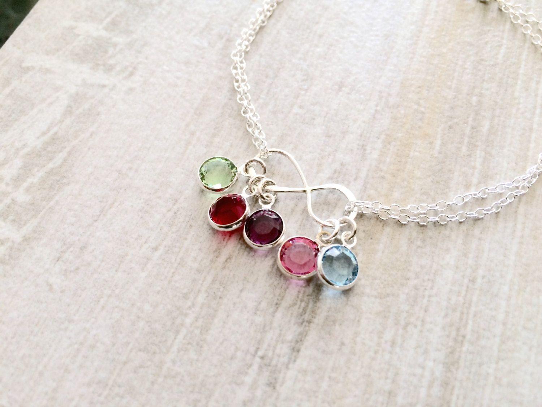 4b236b37881eba 925 Sterling Silver Infinity Birthstone Bracelet