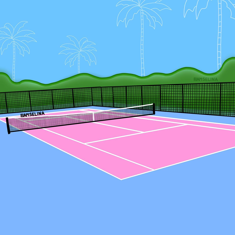 Tennis Court By Selina Finch Planetsel Com Aesthetic Art Tennis Court Digital Illustration