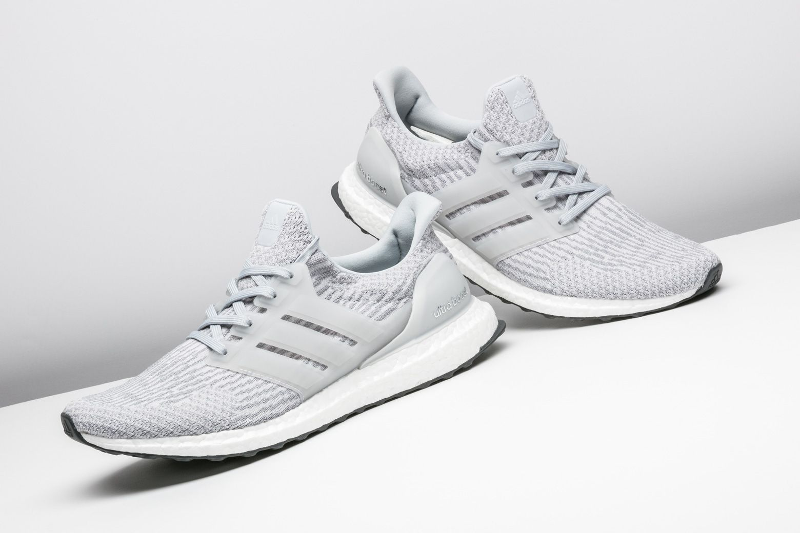 The adidas Ultra Boost 3.0 in grey is a clean and simple option. http  146a67481