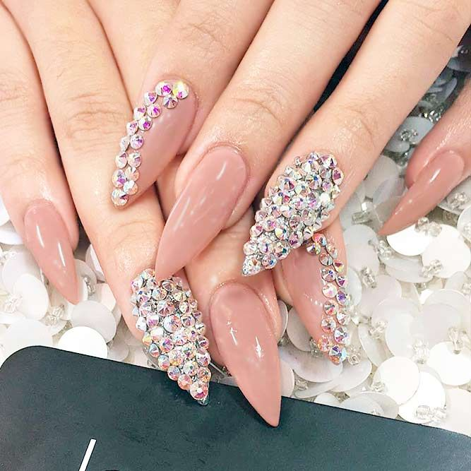 21 Luxury and Chic Pointy Nail Designs for Trendy Look | Pointy ...