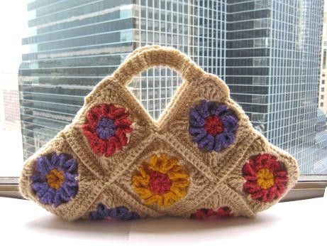 Crochet Pattern Bag, Granny Square, Floral Bag ( pdf pattern ...