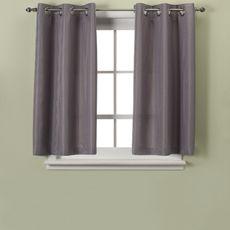 Hookless® Waffle Gray Window Curtain Panel Pair   Bed Bath U0026 Beyond   Basement
