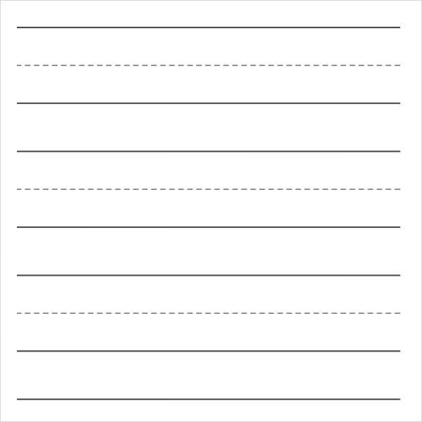 College Ruled Paper Template Printable Writing Paper   Free Documents In  PDF, Word