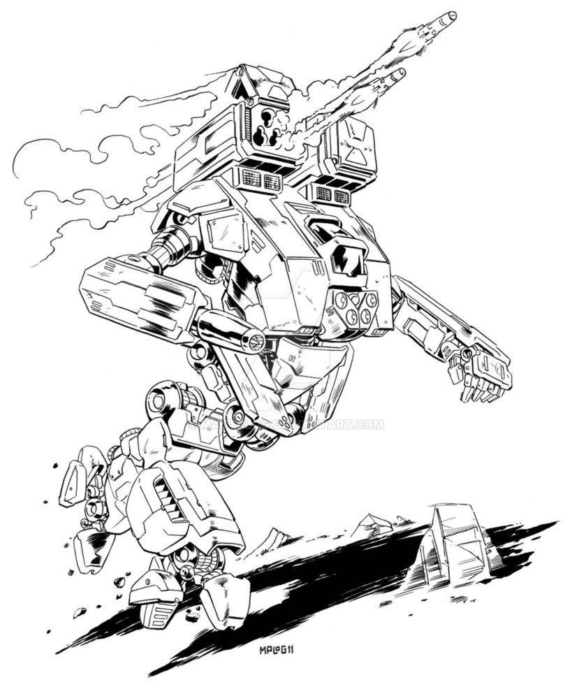 Comm Hydra Medium Mech By Mattplog On Deviantart Mech Art Sketches Doodle Sketch