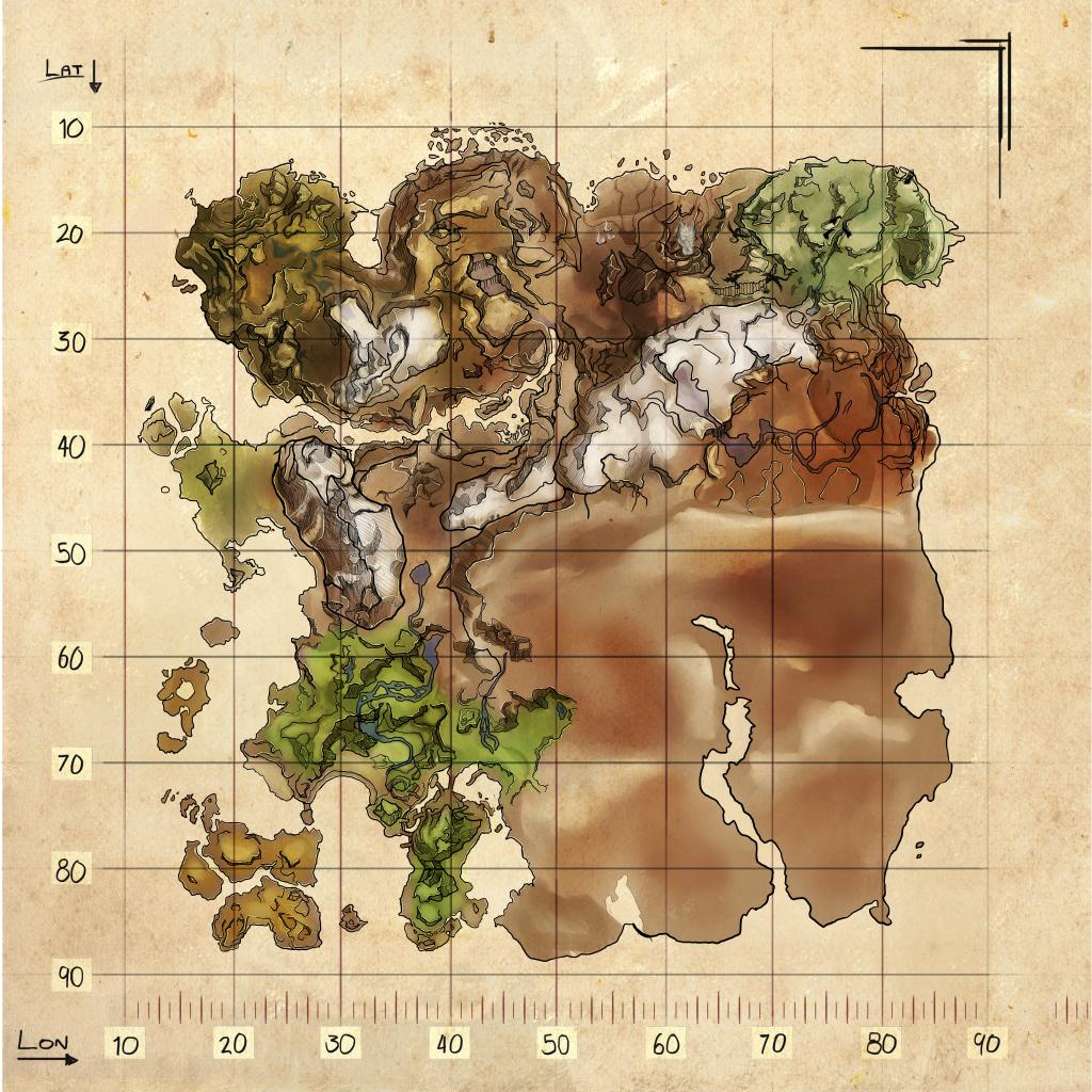 Spawn Map Ragnarok Official Ark Survival Evolved Wiki Ark Survival Evolved Ark Survival Evolved Tips Explorer Map