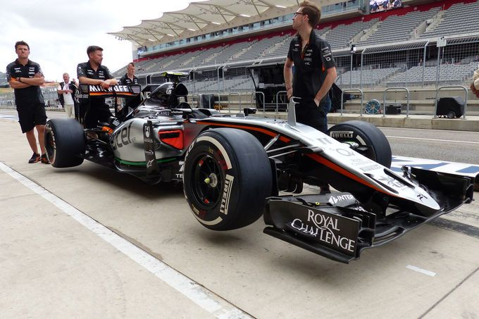 Force India - Formel 1 - GP USA - Austin - 22. Oktober 2015