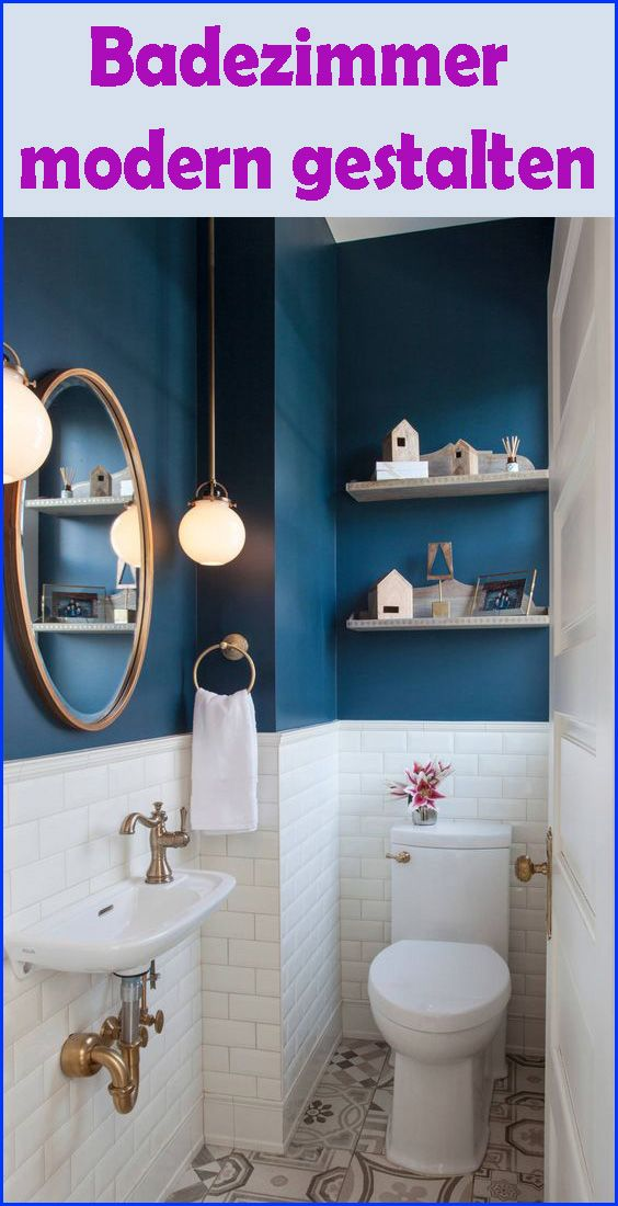 Kleines Badezimmer modern gestalten - Tipps & Ideen mit Lichtdesign #bathroommakeovers