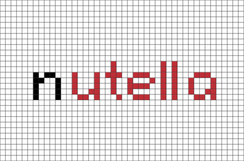 Nutella Pixel Art Dessin Pixel Modele Dessin Pixel Dessin