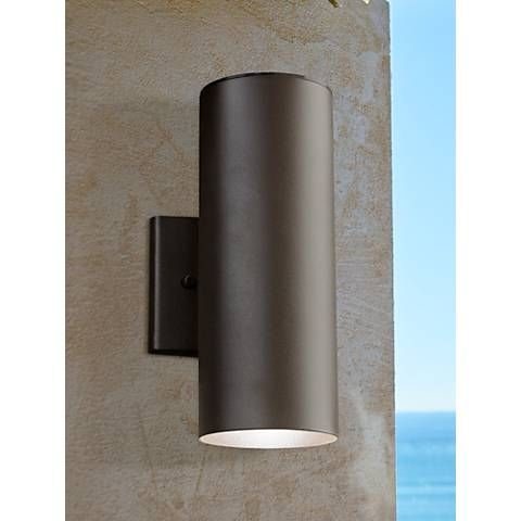 Kichler Elba 12 1 4 H Led Bronze Outdoor Up Down Wall Light 4n184 Lamps Plus Led Outdoor Wall Lights Modern Outdoor Wall Lighting Up Down Wall Light