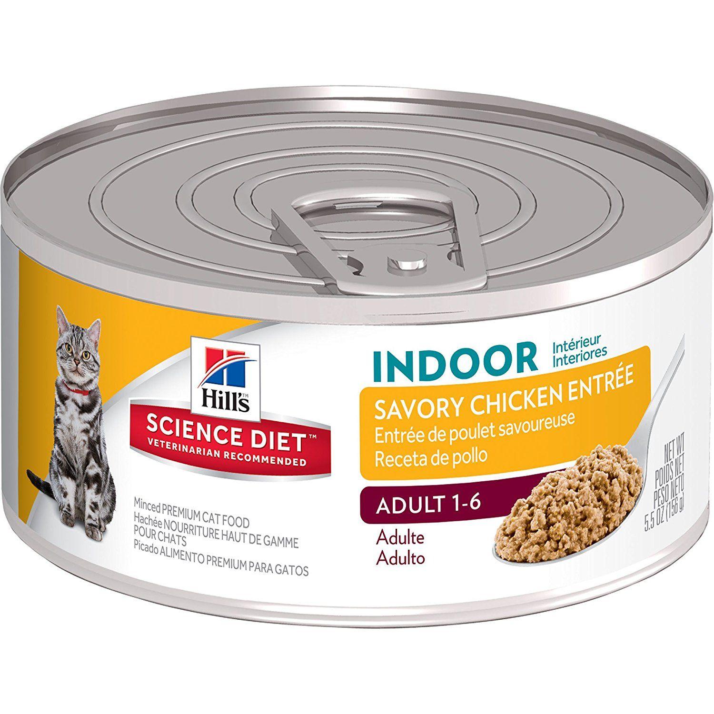 Hills science diet adult indoor cat entree minced cat