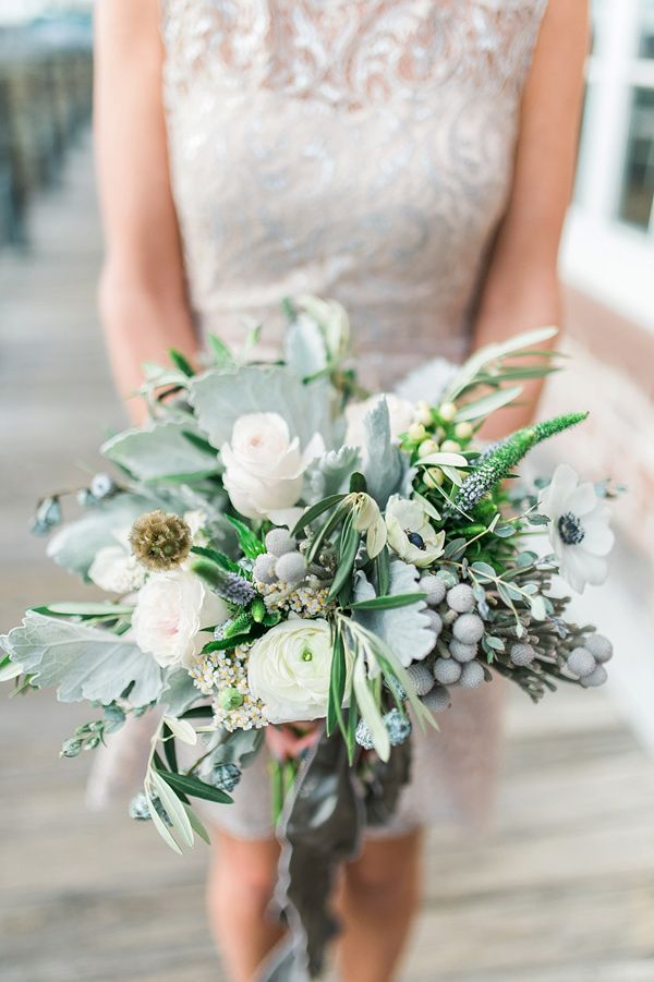 Wedding Bouquets Picture Description Dusty Miller Anemone Bouquet Photo By Becky Williamson Photography Ruffledblog Weddingbouquet Flowers
