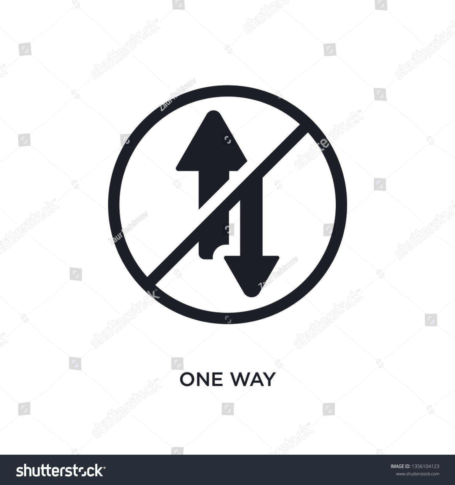 black one way isolated vector icon simple element illustration from traffic signs concept vector icons one way editable logo symbol design on white background can be use...