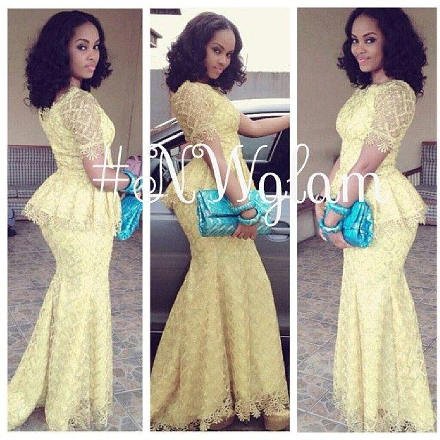 Nigerian wedding ore-iyawo aso-ebi styles 5 | Projects to Try ...