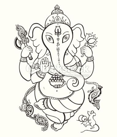 Arte vettoriale : Ganesha Hand drawn illustration. | Lord Ganesha ...