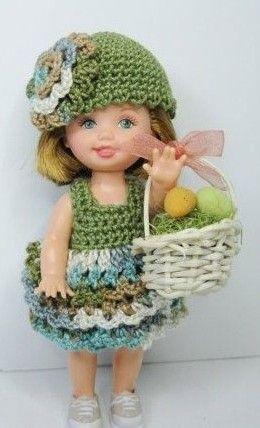 Kelly DOll in Crochet Dress