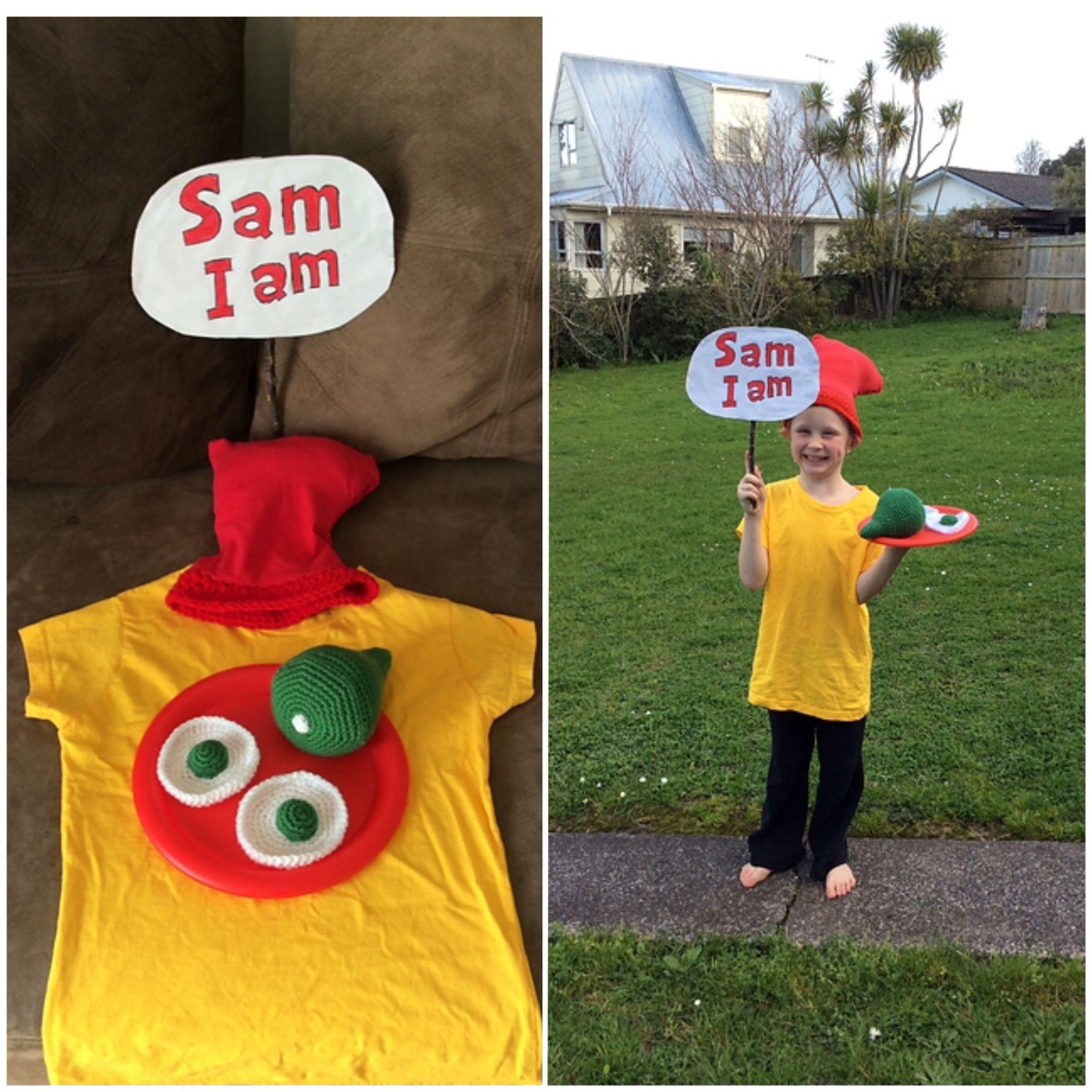 sam i am, green eggs and ham, book week, easy costume, halloween