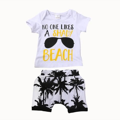 0fdd0530e1e8 Toddler Newborn Baby Boy Clothes Set Letter Outfit Boys Short Sleeve T-shirt  Tops Pants Shorts Children Clothing 0-3T 2Pcs