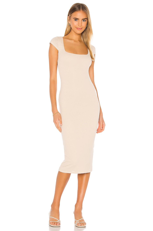 Listen To My Voice Midi Dress Tan In 2021 Tan Dress Outfit Tan Midi Dress Dresses [ 1351 x 900 Pixel ]