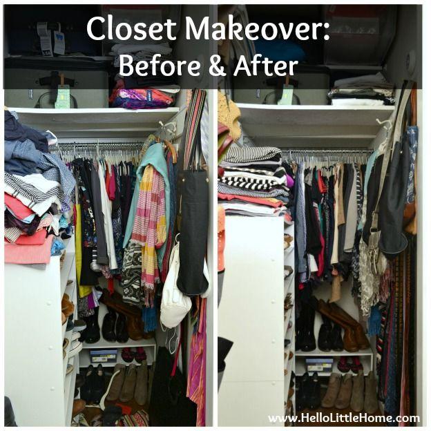 Bedroom Closet Makeover: Before U0026 After