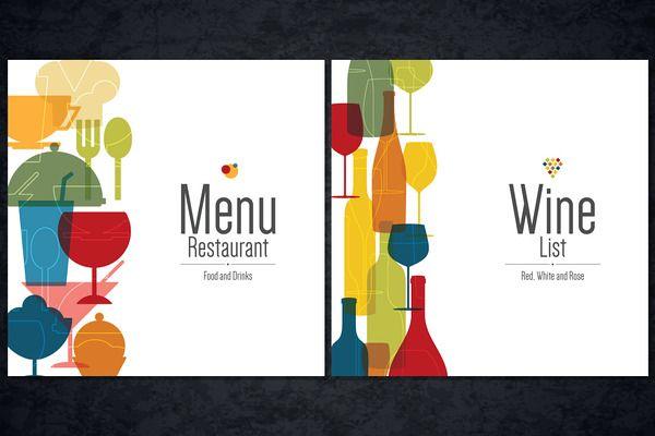 Menu and Wine list template   Cafe Website Ideas   Pinterest ...