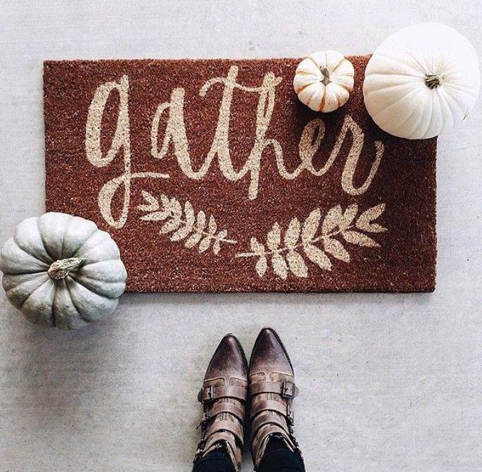 Fall welcoming mat