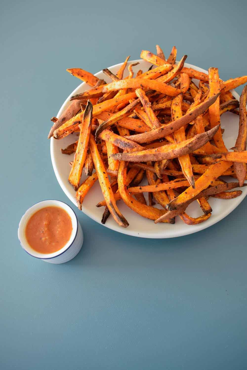 These Spicy Sweet Potato Fries Are Oven Baked Making Them The